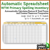 Automatic Spreadsheet for Words Their Way (WTW) Primary Spelling Inventory