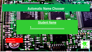 Back to school. Automatic Student Name Chooser
