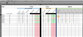 Automatic Tally and Grade Excel Mark Book