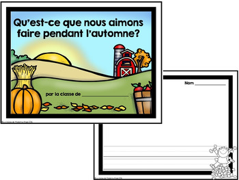 Automne:  A French Emergent Reader with Autumn (Fall) Activities