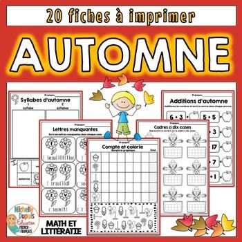 Automne - Activités de Math et Littératie