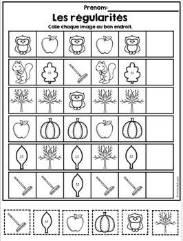 Automne - Activités de Math et Littératie - ressource GRATUITE