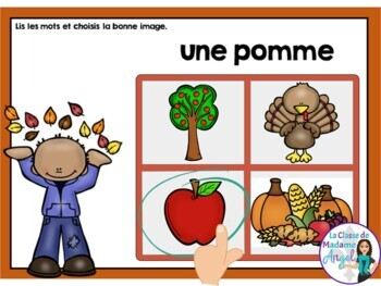 Automne:  Autumn (Fall) Themed Digital Task Cards in French - BOOM CARDS