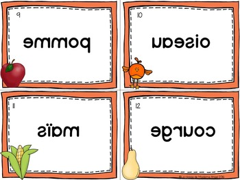 Automne:  Fall (Autumn) Vocabulary Center - Mots Miroirs