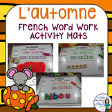 Automne:  Fall (Autumn) Word Work Activity Mats in French