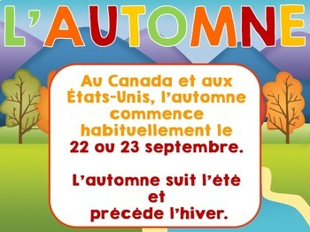 Automne -   French Power Point
