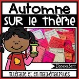 Worksheets for Automne sur le thème littératie et en mathématiques FRENCH