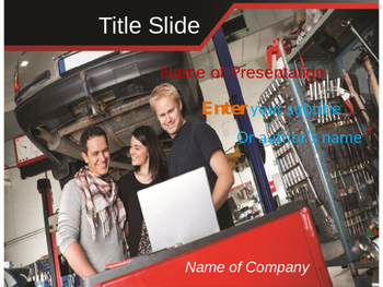 Automobile Repairing PPT Template