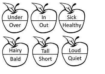 Antonym Apple Match