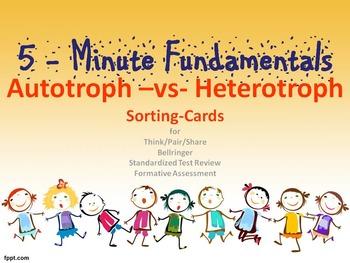 Autotroph vs Heterotroph Sorting Cards: 5-Minute Fundamentals | TpT