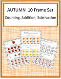 Fall Math Center 10 Frame Kindergarten Math Special Education Math Fine Motor