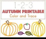 Autumn 123 Preschool Printable