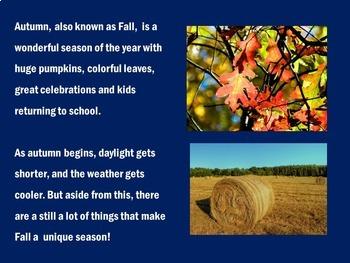 Seasons Activity | Four Seasons PowerPoint | Seasons PowerPoint | FALL