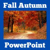 Fall | Autumn | PowerPoint Activity | Preschool Kindergart