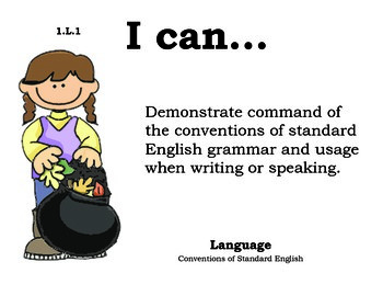 Autumn 1st grade English Common core standards posters