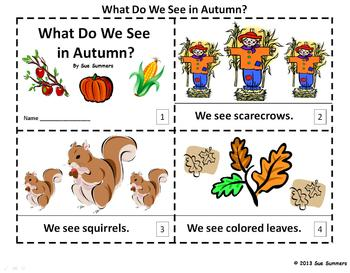 Autumn 2 Emergent Readers - What Do We See in Autumn?
