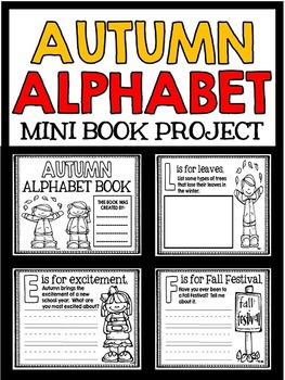 Autumn Alphabet - Fall Mini Book Project - Reading and Writing Practice