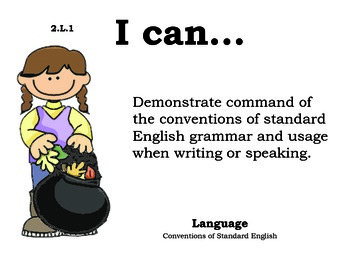 Autumn 2nd grade English Common core standards posters