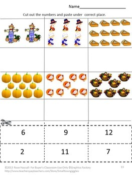 Thanksgiving Activities Cut Paste Fine Motor Special Education Early Childhood