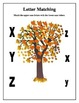 Autumn ABC Letter Matching Worksheets