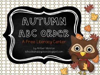 Autumn ABC Order {A Free Literacy Center}