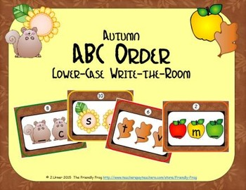 ABC Order: Letters Sequencing Lower-case (Autumn)