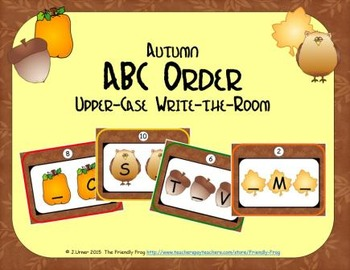 ABC Order: Letters Sequencing Upper-case (Autumn)