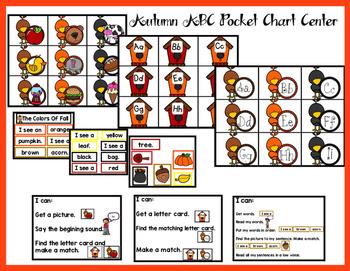 Autumn ABC Pocket Chart Center