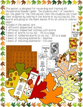 Autumn AR Accelerated Reading Goals Leaves of Learning