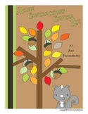 Autumn Acorn and Squirrel Contractions Center Activity Kit for 1st and 2nd Grade
