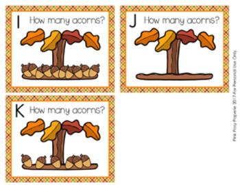 Autumn Acorns Count the Room