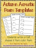 Autumn Acrostic Poem Templates