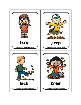 ACTION VERBS PICTURE CARDS EBOOK DOWNLOAD