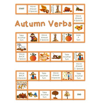 Autumn Action Verbs