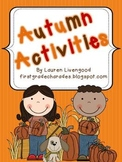 Autumn Activities Pack