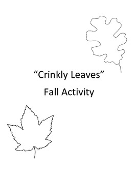 Autumn Activity: Crinkly Leaves