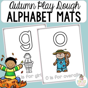 Autumn Activity - Fall Play Dough Mats - Letter Formation and ABC Recognition