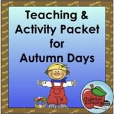 Autumn Activity Packet