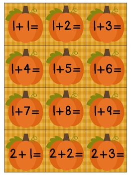 Addition Games and Practice for Fall