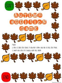 Autumn Addition Math Center