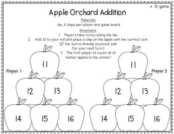 Differentiated Math Printables & Games for Autumn (Common Core)