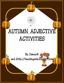 Autumn Adjectives worksheets Activities (Halloween and Thanksgiving included)