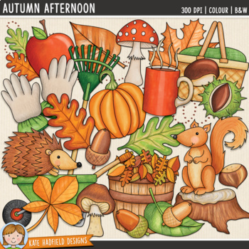 "Autumn Clip Art: ""Autumn Afternoon"""