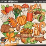 "Fall Clip Art: ""Autumn Afternoon"""