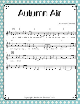 Autumn Air {Original Song and Movement Activity for Elementary Music}