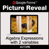 Autumn: Algebra Expressions with 2 variables - Google Form