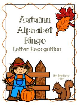 Autumn Alphabet Bingo: Letter Identification and Letter Sound Recognition