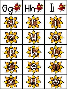 Autumn Alphabet Clip Cards