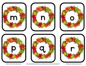 Autumn ABC Flashcards