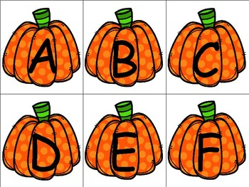 Autumn Alphabet Matching